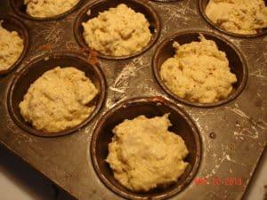Fill muffin cups 3/4 full.