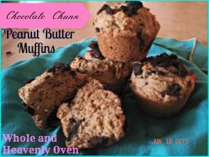 Chocolate Chunk Peanut Butter Muffins