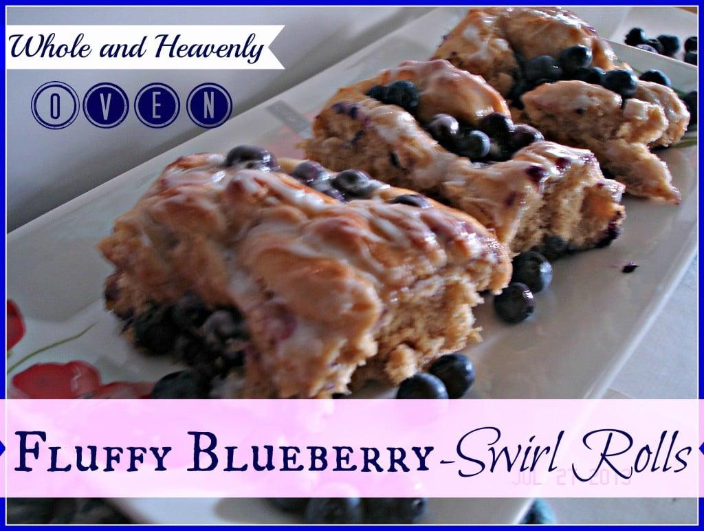 Fluffy Blueberry-Swirl Rolls