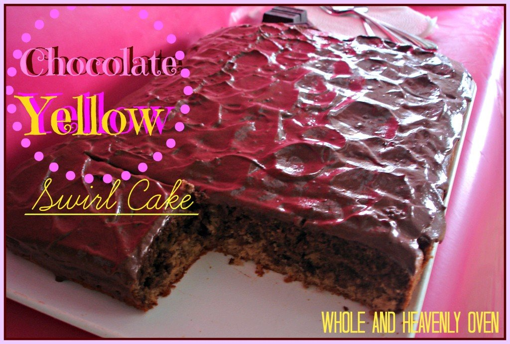 Chocolate Yellow Swirl Cake
