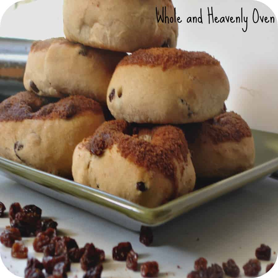 Cinnamon-Dipped Raisin Doughnuts No11