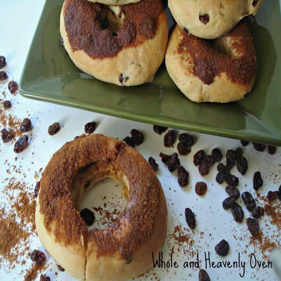 Cinnamon-Dipped Raisin Doughnuts No13