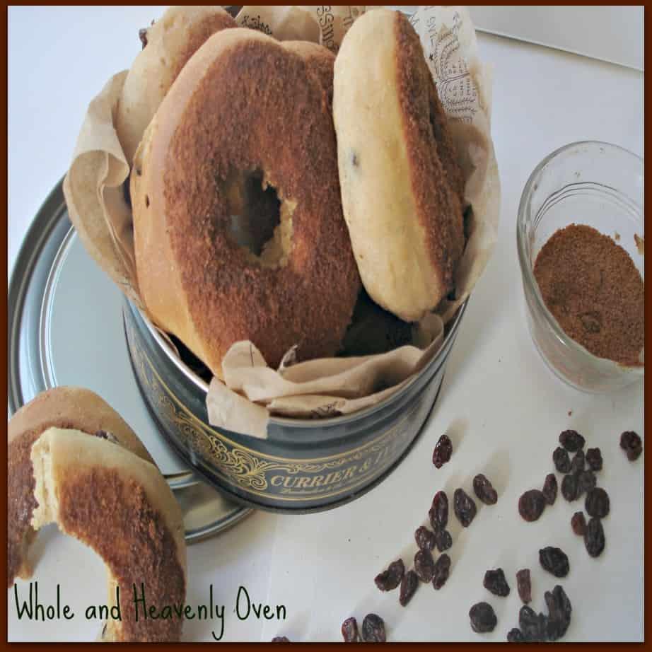 Cinnamon-Dipped Raisin Doughnuts No6