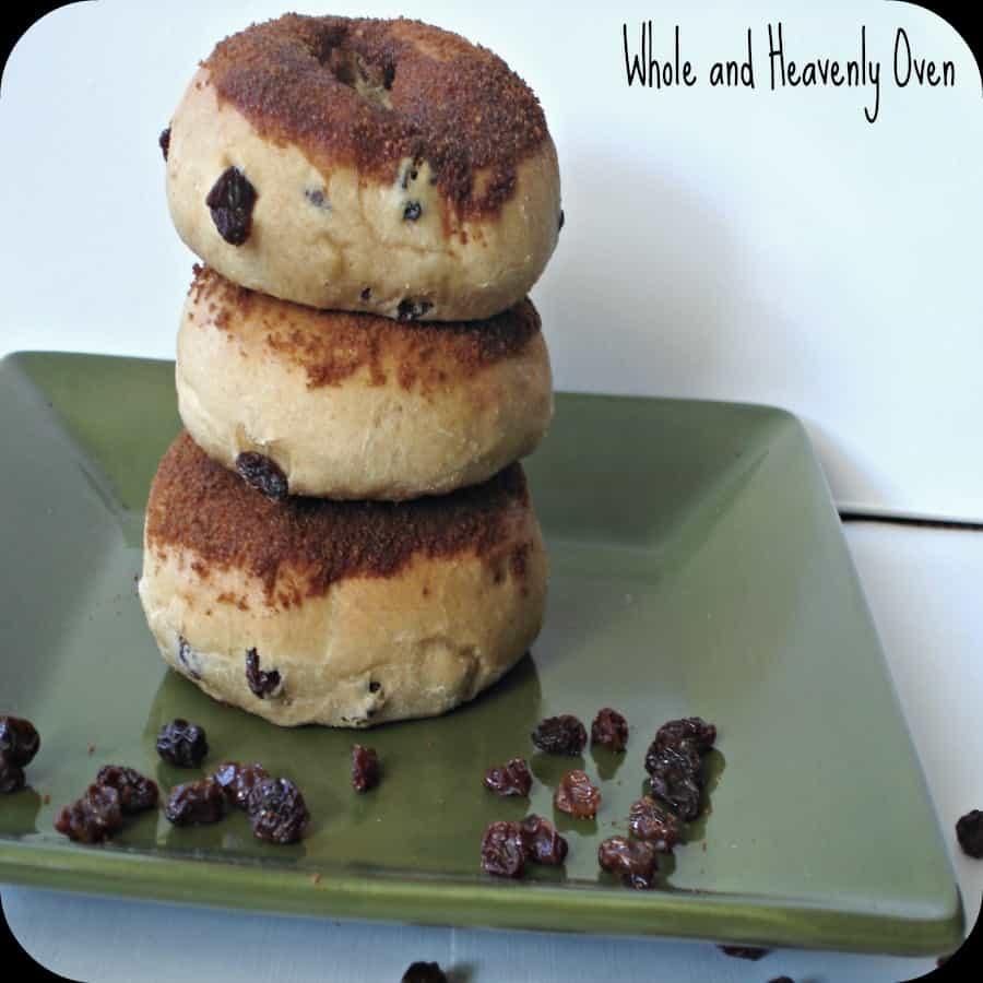Cinnamon-Dipped Raisin Doughnuts No7