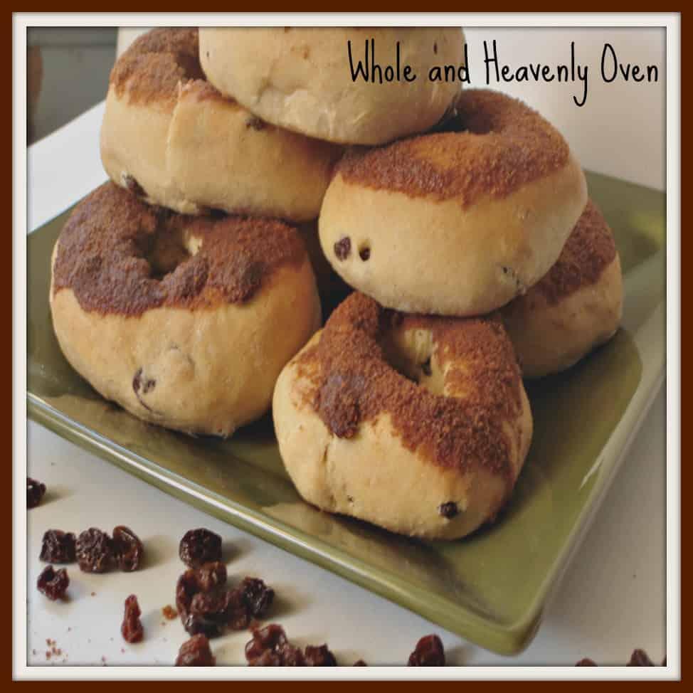 Cinnamon-Dipped Raisin Doughnuts No9