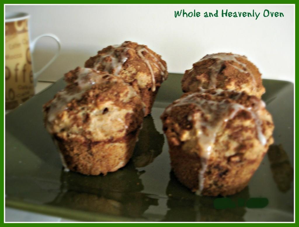 Glazed Snickerdoodle Pecan Muffins