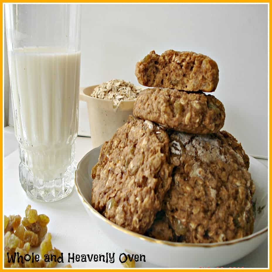 Golden Oatmeal Raisin Cookies