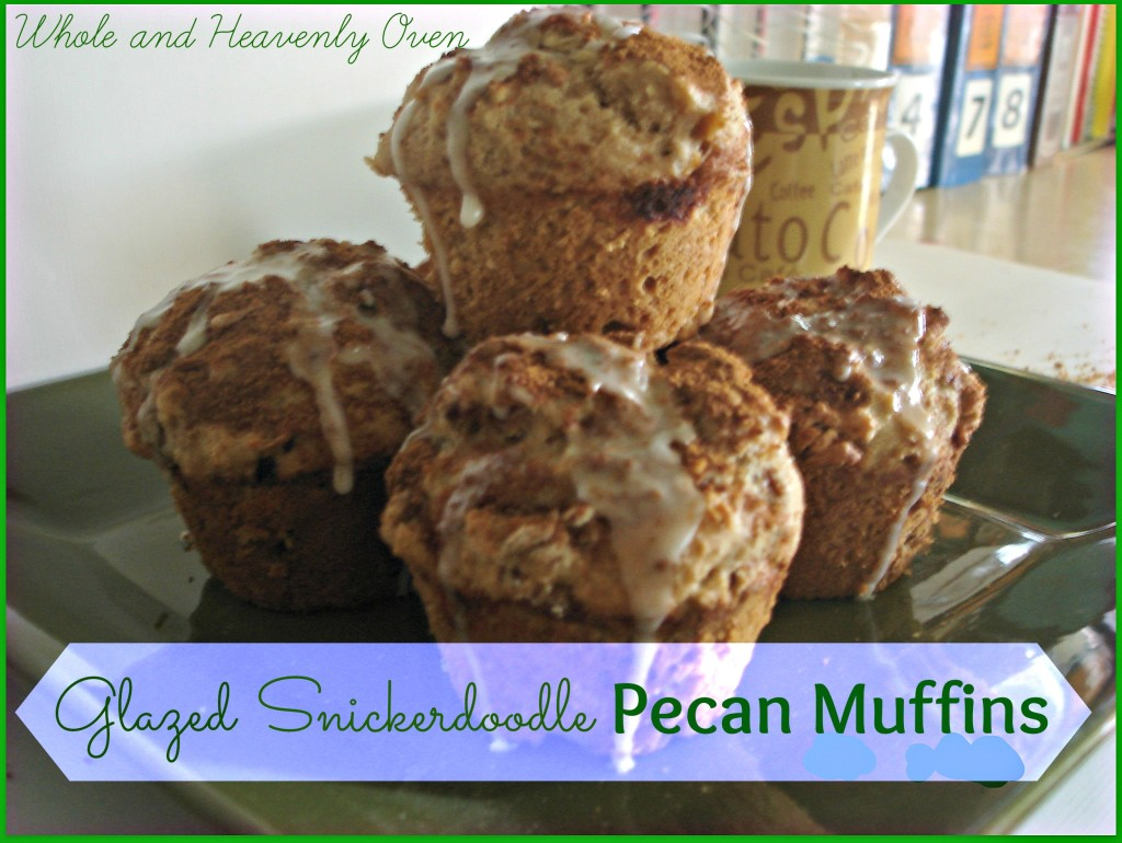 Glazed Snickerdoodle Pecan Muffins