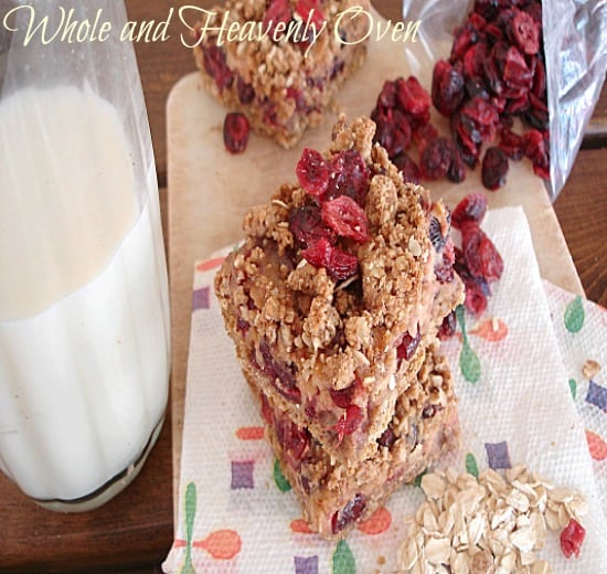 Cranberry Oatmeal Crumb Bars