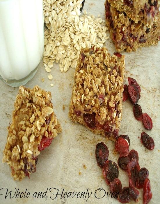 Cranberry Oatmeal Crumb Bars