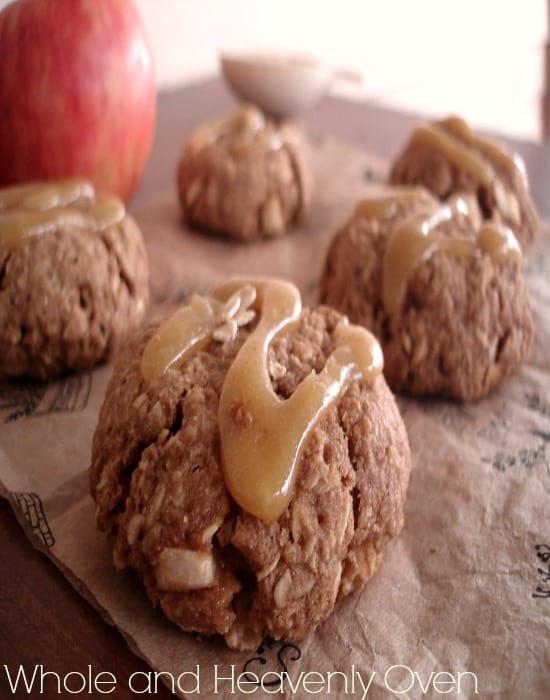 Caramel Apple Oatmeal Cookies