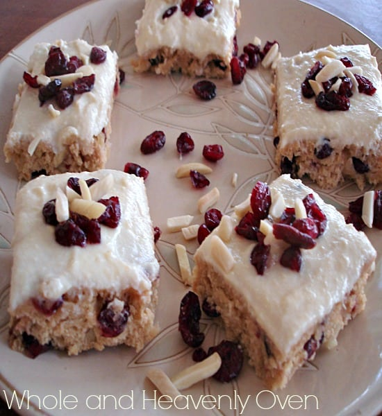 Chewy Cranberry Almond Bars