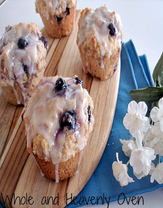 Iced Lemon Blueberry Muffins