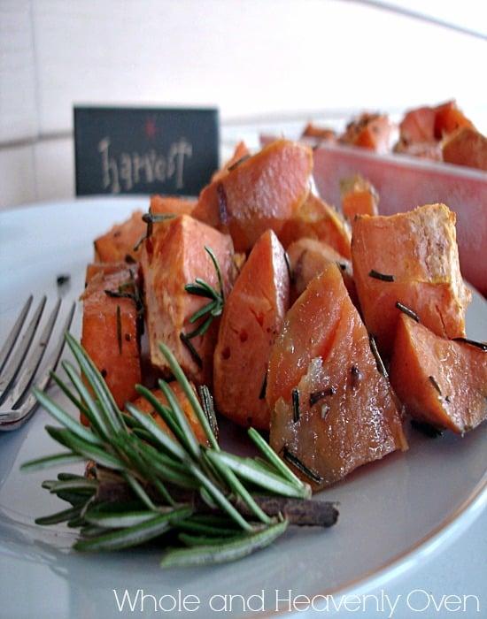 Maple-Rosemary Roasted Sweet Potatoes