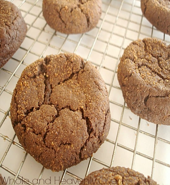 Chocolate Molasses Crinkle Cookies