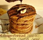 Gingerbread Pancakes With Chocolate Syrup