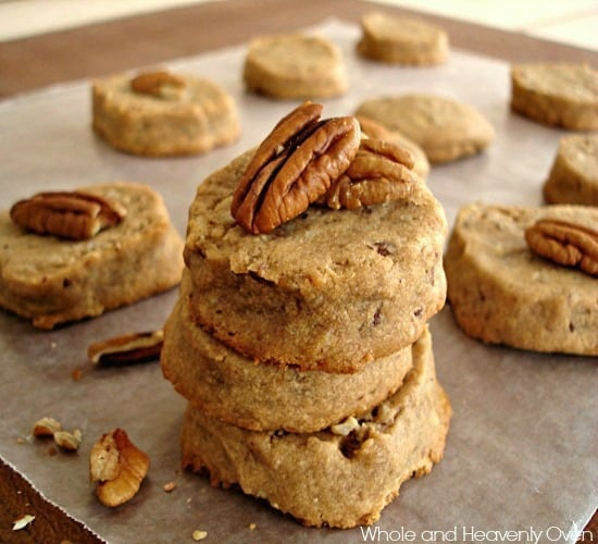 Butter Pecan Shortbread Cookies - Whole and Heavenly Oven