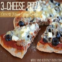 3-Cheese Pizza (100% Made From Scratch)