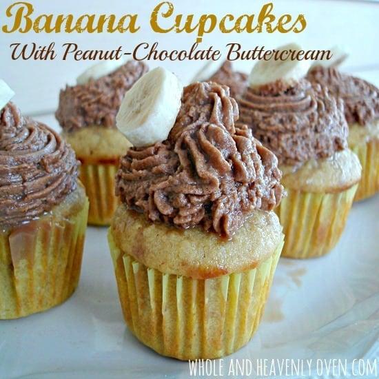 Banana Cupcakes With Peanut-Chocolate Buttercream