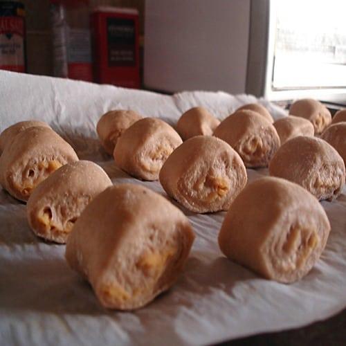 Cheddar-Stuffed Pretzel Bites 10
