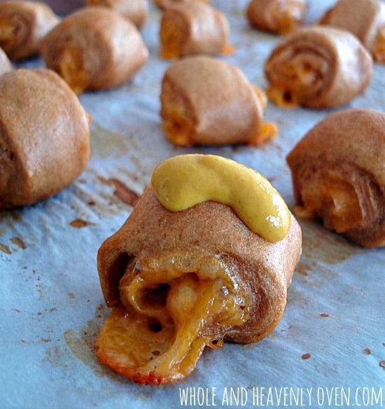 Cheddar-Stuffed Pretzel Bites