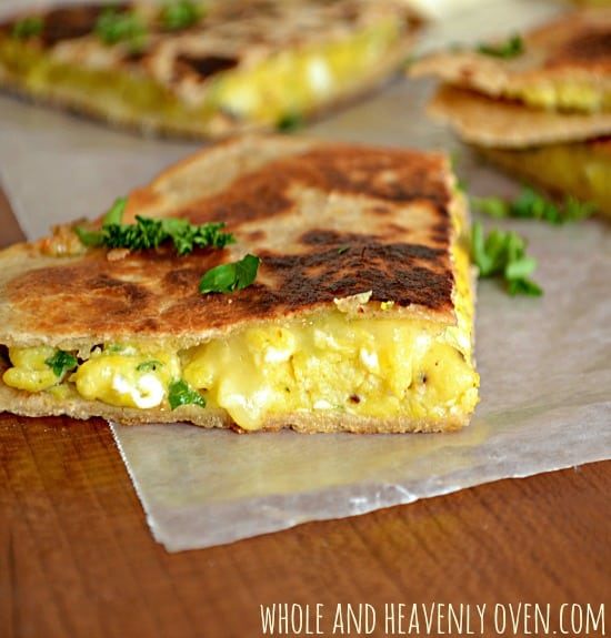Cheesy Breakfast Quesadillas
