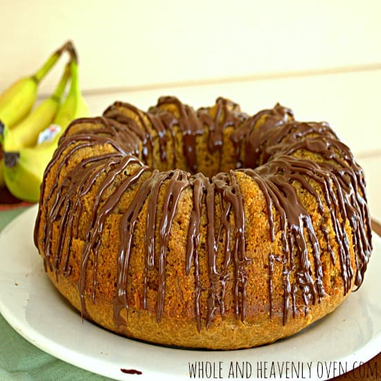 Chocolate-Glazed Banana Pound Cake