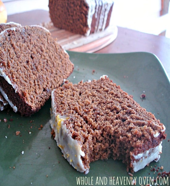 Gingerbread Loaf Cake With Orange Icing