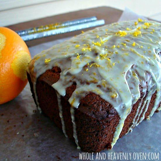 Gingerbread Loaf Cake With Orange Icing