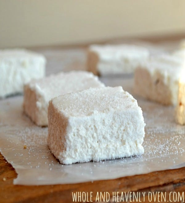 Homemade Marshmallows (gluten-free and refined sugar-free)