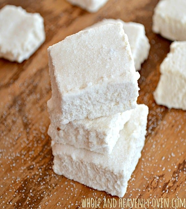 Homemade Marshmallows (gluten-free and refined-sugar free)