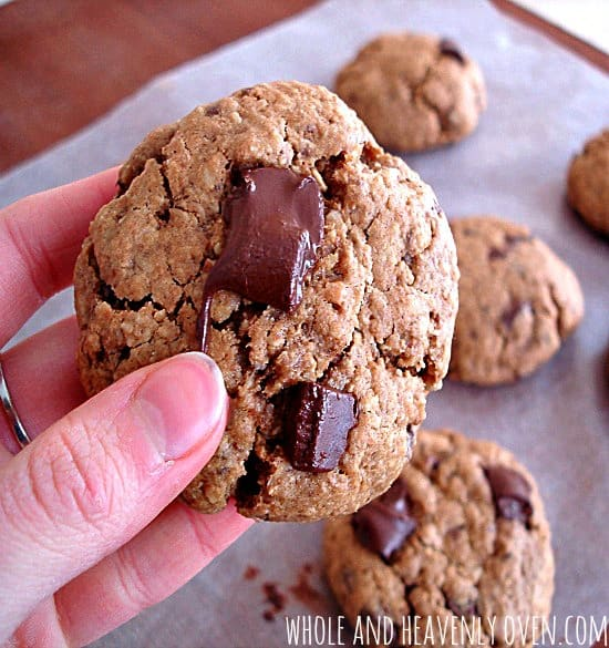 1 cup butter, softened 1 cup coconut sugar 2 large eggs 2 teaspoons vanilla extract 2 cups white whole wheat flour 2 cups quick-cooking oats 2 teaspoons baking soda 3/4 teaspoon salt 1 teaspoon ground cinnamon 3/4 cup chopped pecans 1 cup semisweet chocolate chips