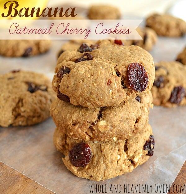 Banana Oatmeal Cherry Cookies