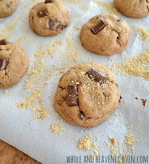 Graham Chocolate Chip Cookies | wholeandheavenlyoven.com