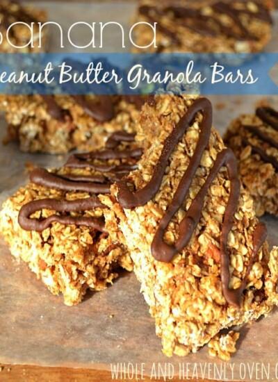 Peanut Butter Banana Granola Bars