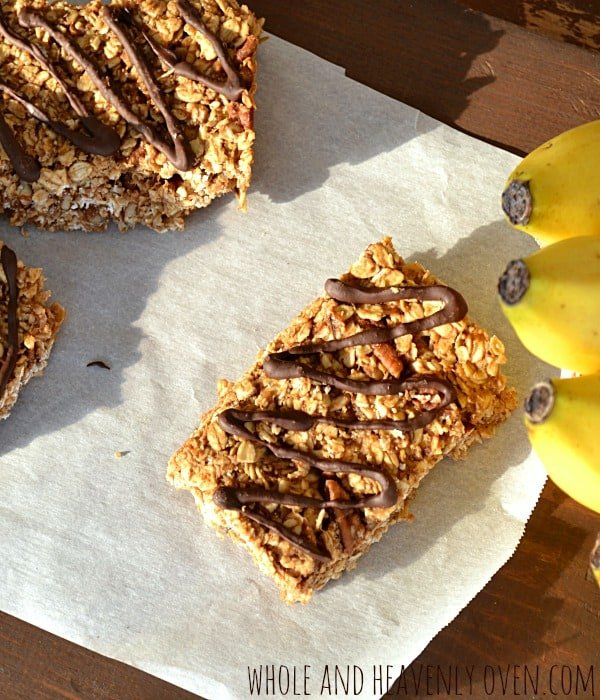 Banana Peanut Butter Granola Bars