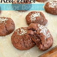 Red Velvet Fudge Cookies