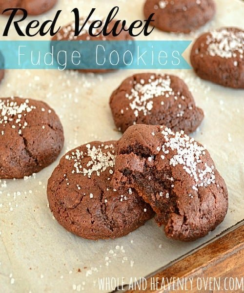 Red velvet combines with a fudge-like texture in these super-soft cookies---Literally impossible to only eat one!
