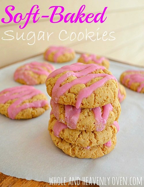 Thick and chewy homemade sugar cookies made healthier! These soft cookies taste even better than store-bought sugar cookies and are so much healthier for you.