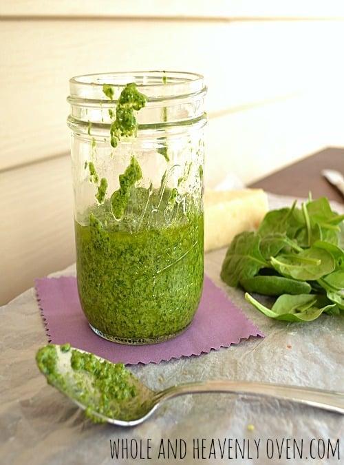 Spinach Basil Pesto11