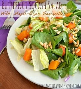 Butternut Squash Salad With Maple-Dijon Vinaigrette | wholeandheavenlyoven.com