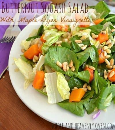 Butternut Squash Salad With Maple-Dijon Vinaigrette   wholeandheavenlyoven.com