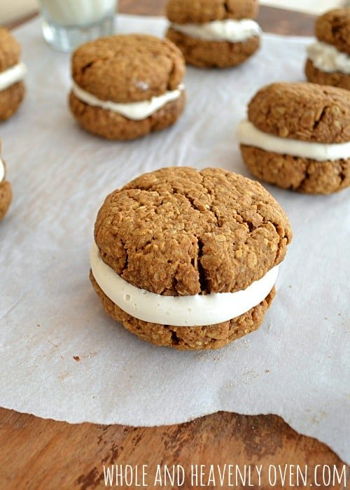 Copycat Oatmeal Creme Pies | wholeandheavenlyoven.com
