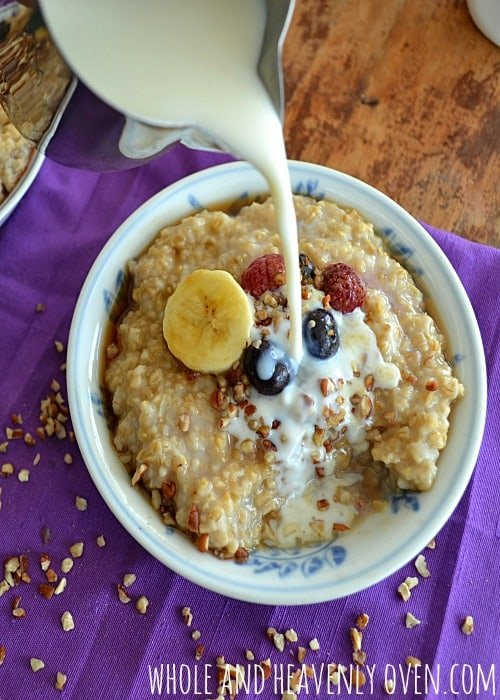How To Make Perfect Steel-Cut Oatmeal | wholeandheavenlyoven.com