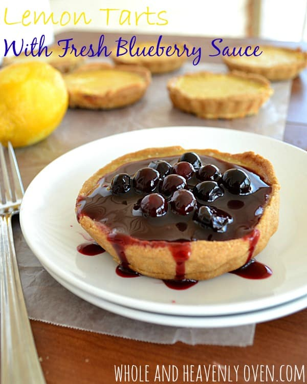 Lemon Tarts With Fresh Blueberry Sauce12