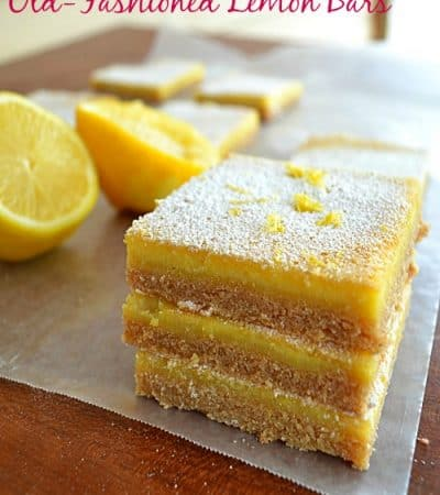 Old-Fashioned Lemon Bars | wholeandheavenlyoven.com
