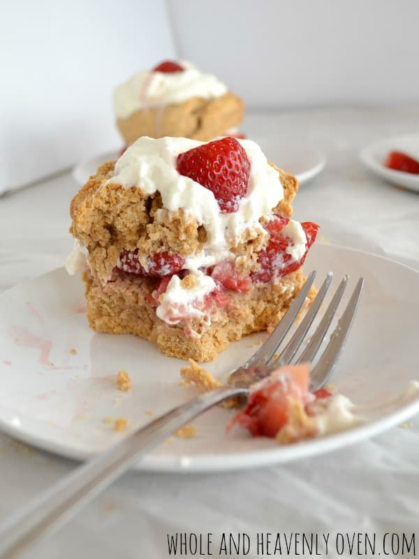 Whole Wheat Strawberry Shortcakes | wholeandheavenlyoven.com