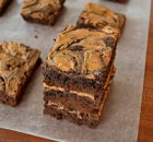 Peanut Butter Swirl Fudge Brownies