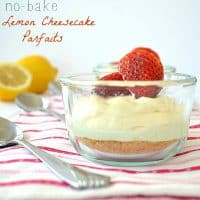 No-Bake Lemon Cheesecake Parfaits | wholeandheavenlyoven.com