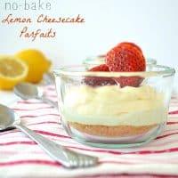 No-Bake Lemon Cheesecake Parfaits | wholeandheavenlyoven.com